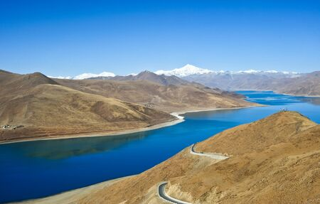 A beautiful lake in Tibet
