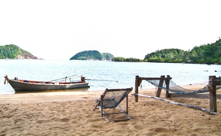 beach scenery in Thailand photo