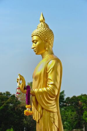 golden Buddha statue in Thailand