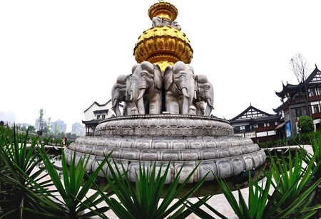 The elephant statues in China Stock Photo - 15685625