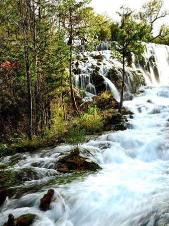 Waterfall in Jiuzhaigou, Sichuan province, China