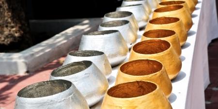 Monk s alms bowls Stock Photo - 19905647