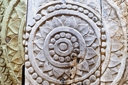 tooled: wood carving Stock Photo