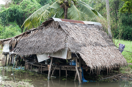 slum: Thai style house in slum, Bangkok, Thailand Stock Photo