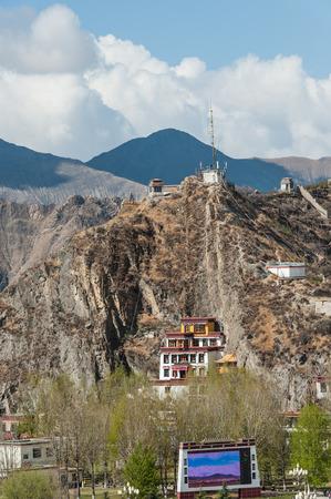 stillness: City view of Lhasa, Tibet