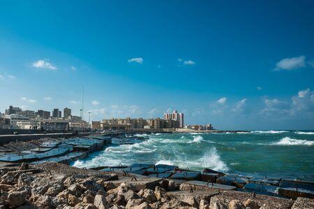 alexandria egypt: the coast of Alexandria, Egypt