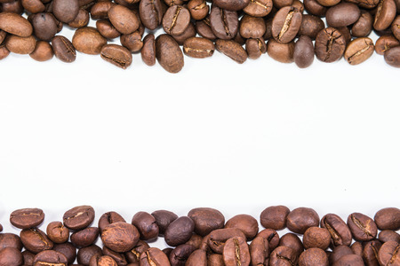coffee bean stripe isolated in white background Stock Photo