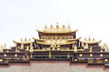 the holy temple in monastery, Tibet, China 스톡 콘텐츠