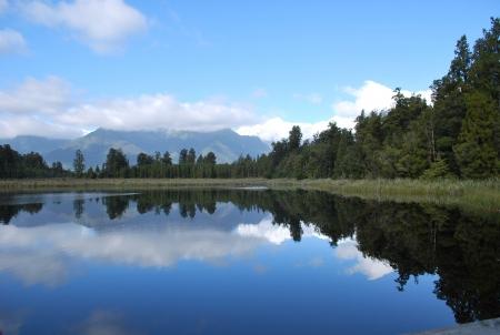 Lake Matheson reflection Stock Photo - 19220559