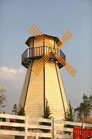 yellow windmill photo