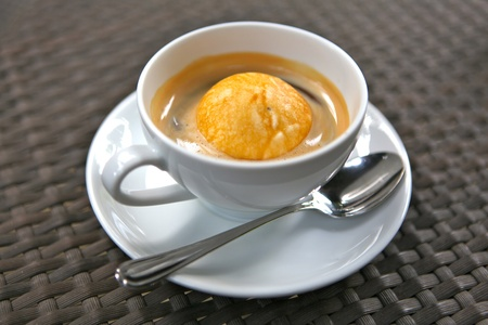 addictive: Affogato coffee Stock Photo
