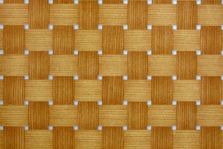 mixflooring: wicker texture painted on laminate Stock Photo