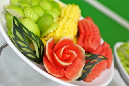carved fruits photo