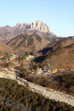 Bird eye view of Soraksan in winter photo