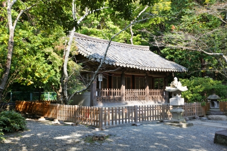 traditional japanese house in garden