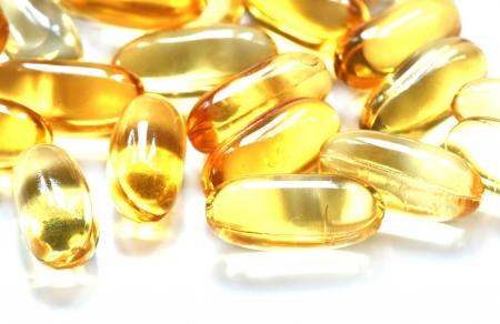 vitamin oil capsules Stock Photo - 13159060