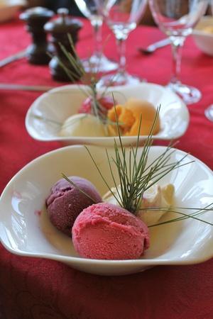 sherbet: sherbet icecream Stock Photo