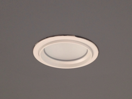 downlight: LED downlight and grey ceiling