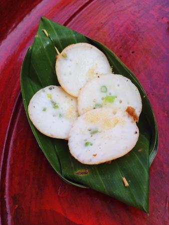 sweetmeat: Northern Thai sweetmeat in babana leaf Stock Photo