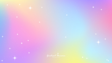 Unicorn Gradient background colorful. Sky unicorn, Color