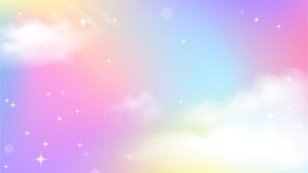 Licorne ciel dégradé coloré, fond dégradé licorne coloré.