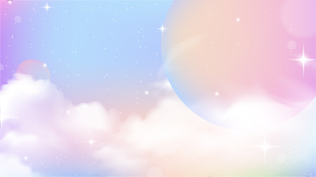 Unicorn Sky Colorful Gradient, Unicorn Gradient background colorful. S
