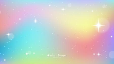Unicorn Sky Colorful Gradient, Unicorn Gradient background colorful. Иллюстрация
