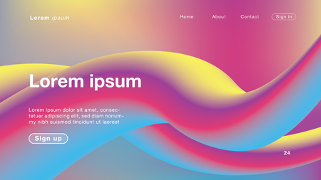 Background abstract all color Curve for Homepage. Vector Illustration EPS10.