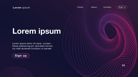 Background abstract dynamic linear waves purple light for Homepage. Vector Illustration EPS10. Иллюстрация