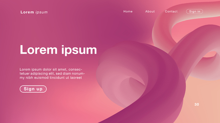 Background abstract pink curve light for Homepage. Vector Illustration EPS10. Иллюстрация