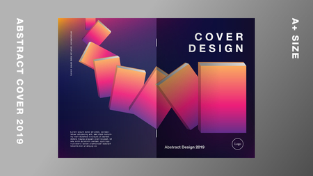 Abstract annual report 2019, Template layout design, Cover book. Vector illustration, Presentation gradient background.
