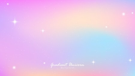 Unicorn Sky Colorful Gradient, Unicorn Gradient background colorful. Sky unicorn, Color star trek. Vector gradient Illustrator EPS10.  イラスト・ベクター素材