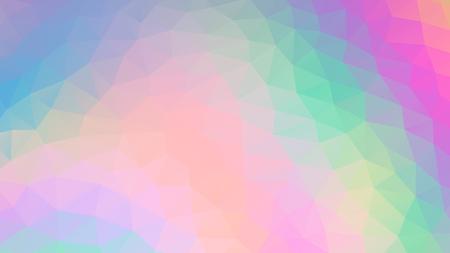 Polygon unicorn color. Vector Illus EPS10. Ilustração