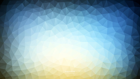 Polygon Blue Warm Light. Polygonal Hex color Gradient for Background. Texture Background. Vector Illustration EPS10 file.