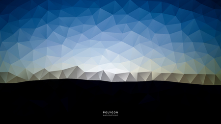 Polygon Morning Sky Blue Light. Polygonal Hex color Gradient for Background. Texture Background. Vector Illustration EPS10 file.
