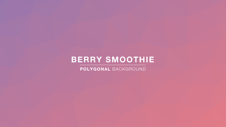 Berry Smoothie Polygonal gradient colors. Polygonal for Background. Vector Illustration EPS10
