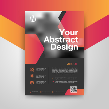 Company poster template with abstract gradient, Vector Illustration EPS10. Иллюстрация