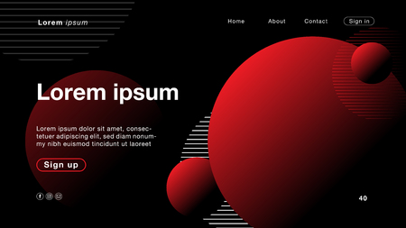 Background abstract black red color for Homepage. Vector Illustration EPS10.