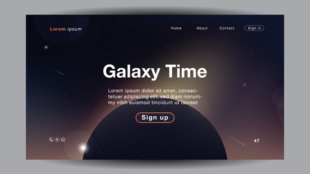 Background abstract galaxy Time light color for Homepage. Vector Illustration EPS10.