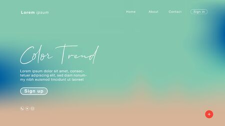 Background abstract Green pastel color trend 2020 for Homepage. Vector Illustration EPS10. Иллюстрация