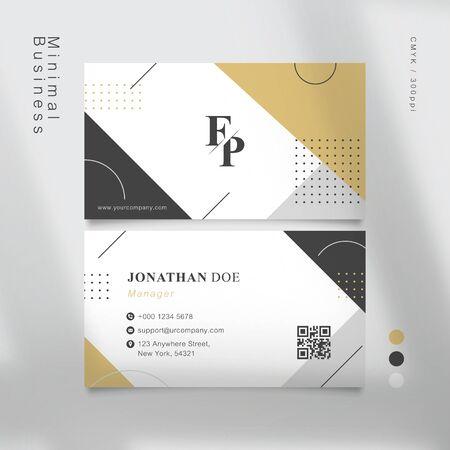 muji geometric shapes business card. Vector Illustration