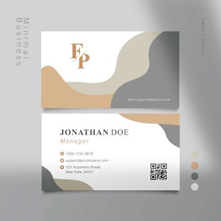 MUJI-Style materials color business card. Vector Illustration