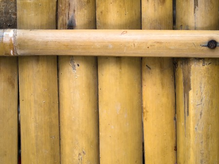 Taken from the bed made of bamboo to sit or sleep photo