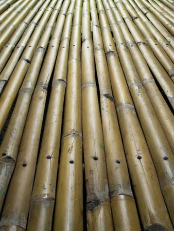 Tomado de la cama hecha de bambú para sentarse o dormir  Foto de archivo - 7030105