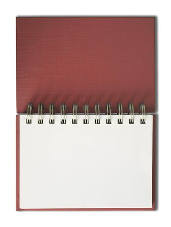 Red Notebook horizontal single blank page Stock Photo - 7185029