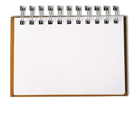 foglio bianco: Orange Notebook orizzontale singola pagina  Archivio Fotografico