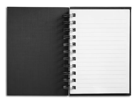 Notebook vertical single white page Stock Photo - 7185039