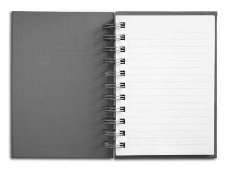 Notebook vertical single white page Stock Photo - 7213198