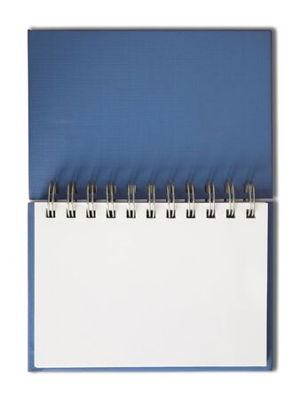 Blue Notebook horizontal single blank page Isolated Stock Photo - 7213205
