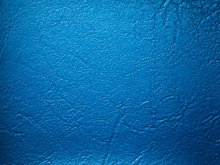 Blue leatherette texture sample color for design photo